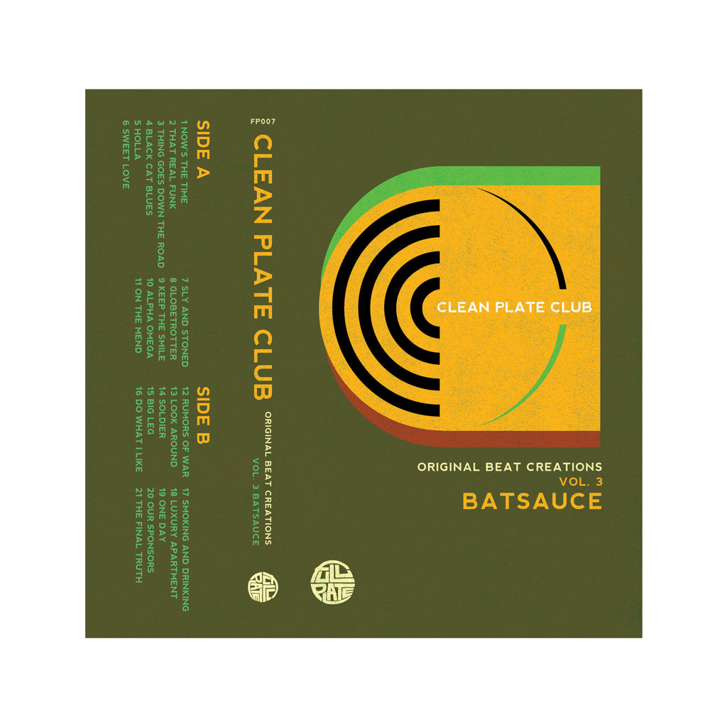 Batsauce - 'Clean Plate Club Vol. 3' [(Orange) Cassette Tape]
