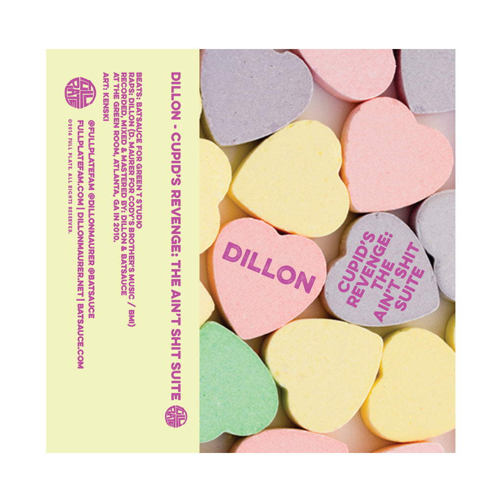Dillon & Batsauce - 'Cupid's Revenge: The Ain't Shit Suite' [(Pink or Yellow) Cassette Tape]