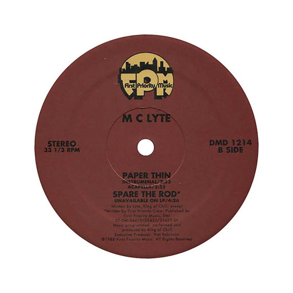 "MC Lyte - 'Paper Thin/ Paper Thin (Remixes)/ Spare The Rod' [(Black) 12"" Vinyl Single]"