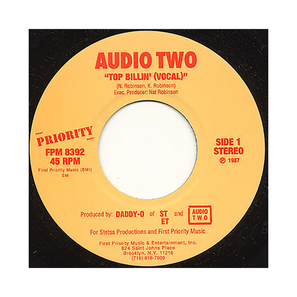 "<!--1987121552-->Audio Two - 'Top Billin'' [(Black) 7"" Vinyl Single]"