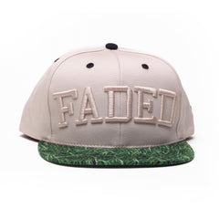 <!--020140717064931-->Faded Royalty - 'Faded College Grass' [(Natural) Snap Back Hat]