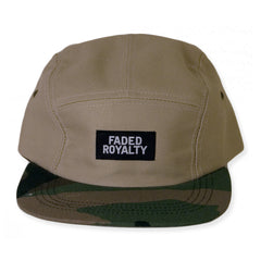 <!--020140717064937-->Faded Royalty - 'Camo Khaki' [(Light Brown) Five Panel Camper Hat]