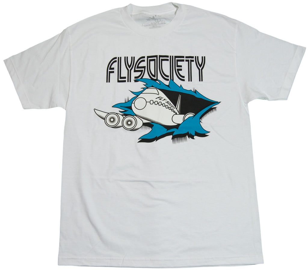 <!--2011083039-->Fly Society - 'Fly By' [(White) T-Shirt]