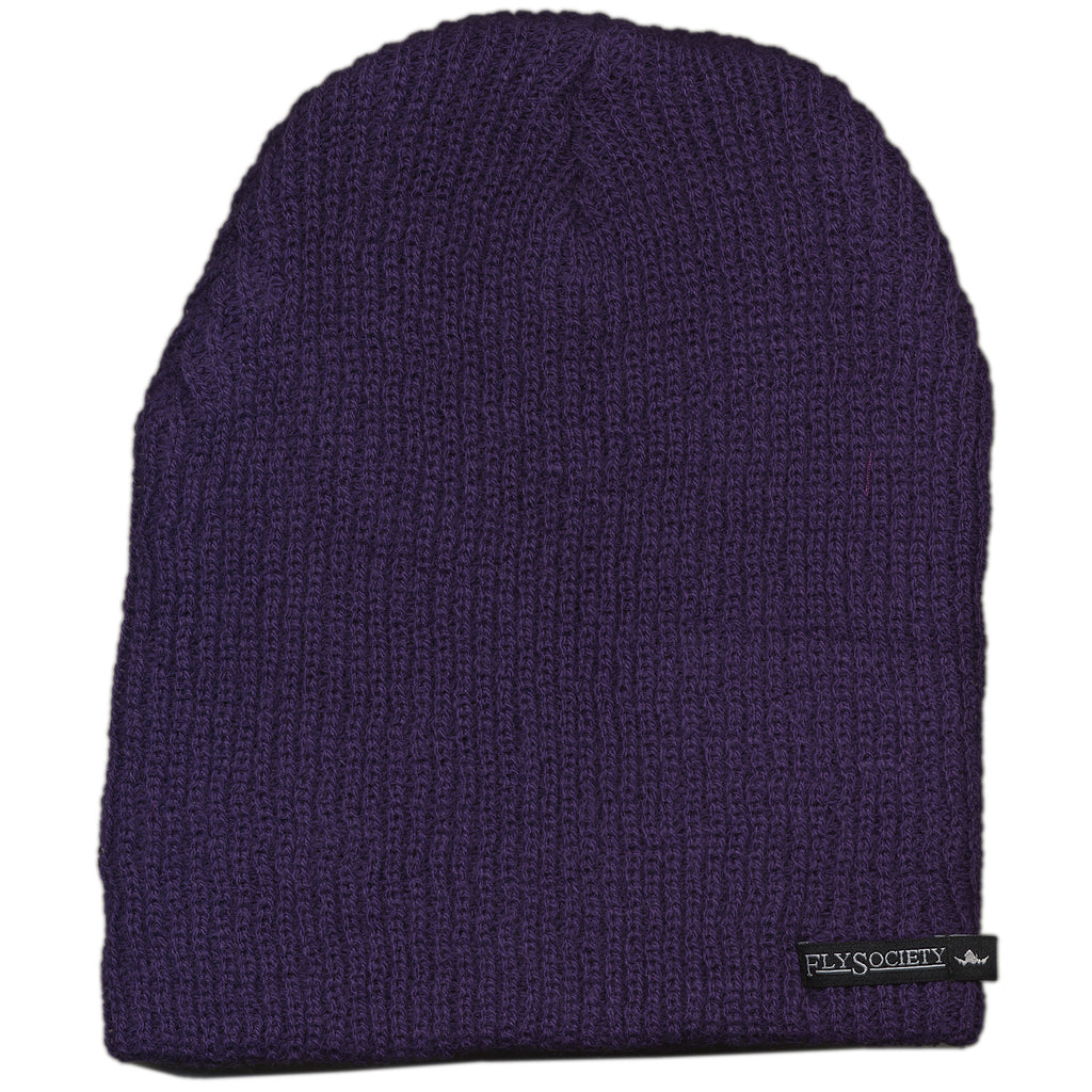 <!--020120110040088-->Fly Society - 'Charter Member Beanie' [(Purple) Winter Beanie Hat]