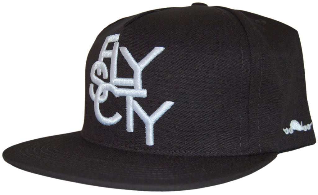 <!--020110705032378-->Fly Society - 'Linogram' [(Black) Snap Back Hat]