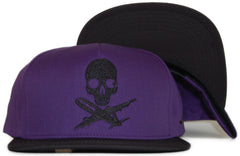 <!--020111122038859-->Fly Society - 'Planes And Bones' [(Purple) Snap Back Hat]