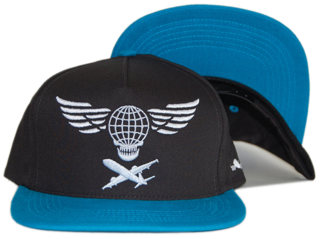 <!--020120515045204-->Fly Society - 'Global Skull' [(Black) Snap Back Hat]
