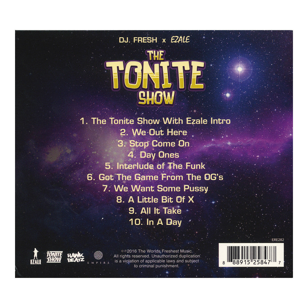 DJ Fresh & Ezale - 'The Tonite Show With Ezale' [CD]