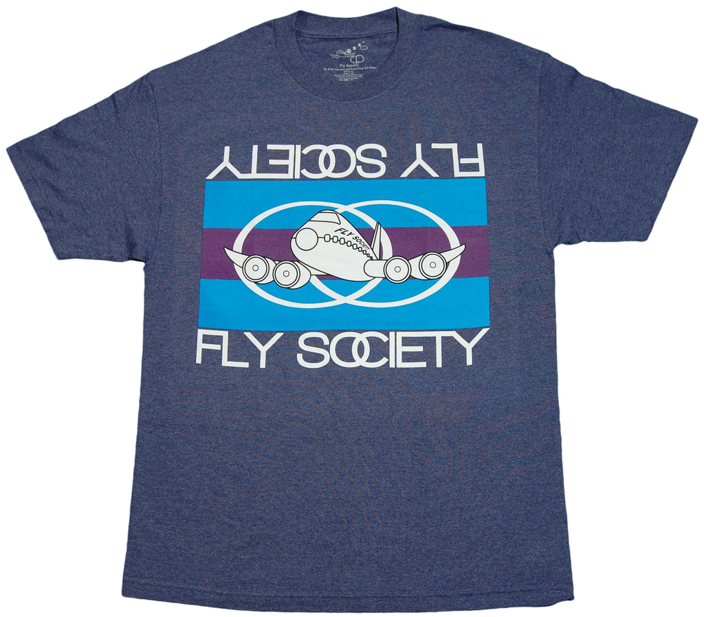 <!--2011101851-->Fly Society - 'Flag' [(Dark Blue) T-Shirt]