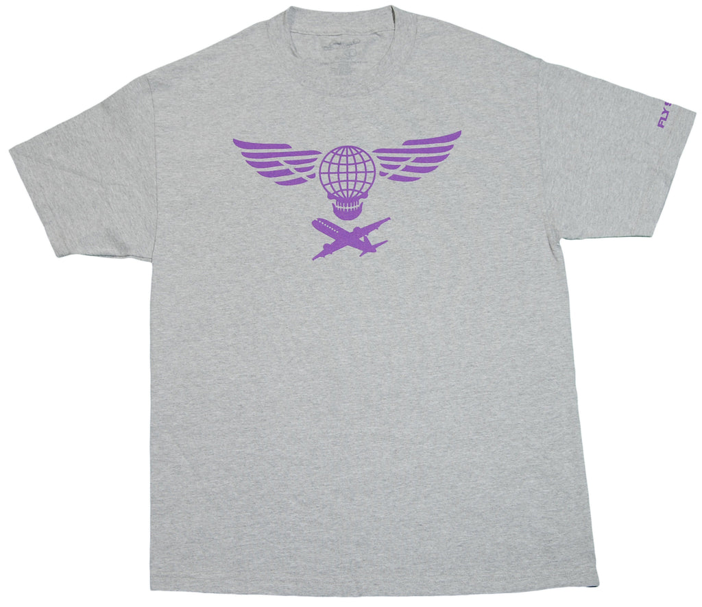 <!--2012022101-->Fly Society - 'Global Skull' [(Gray) T-Shirt]