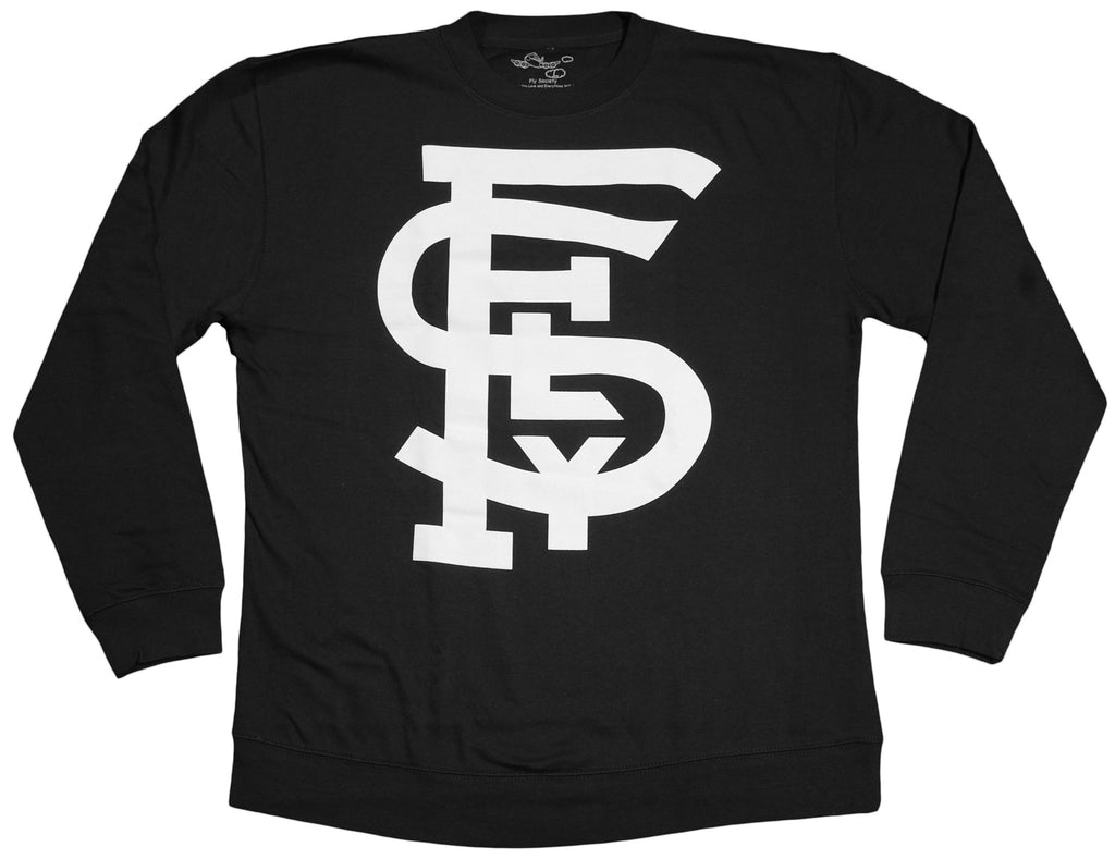 <!--2012022129-->Fly Society - 'Lock Up' [(Black) Crewneck Sweatshirt]