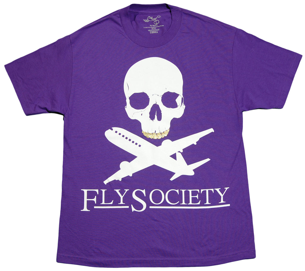 Fly Society - 'Planes And Bones' [(Purple) T-Shirt]