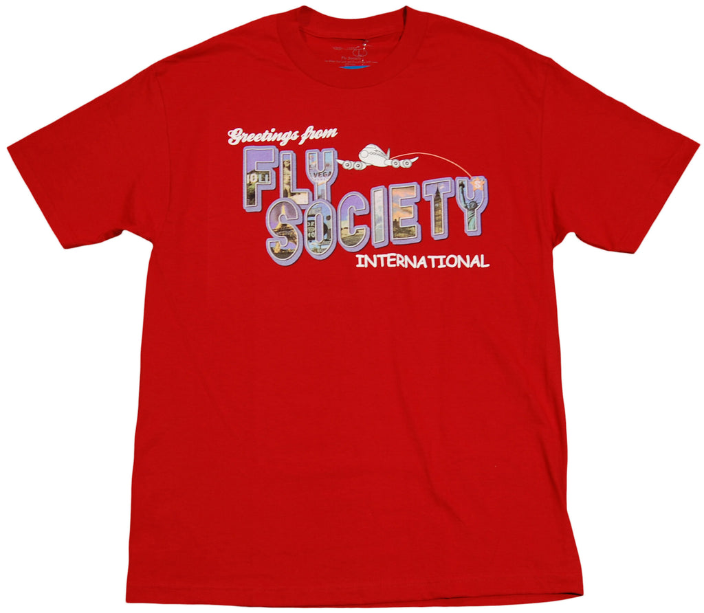 <!--2011070555-->Fly Society - 'Greetings' [(Dark Red) T-Shirt]