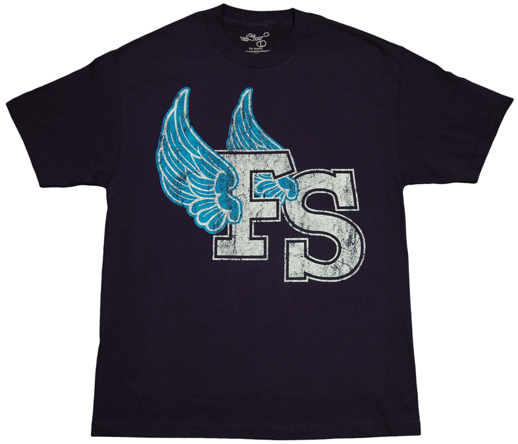 <!--2011112215-->Fly Society - 'FS Wings' [(Dark Blue) T-Shirt]
