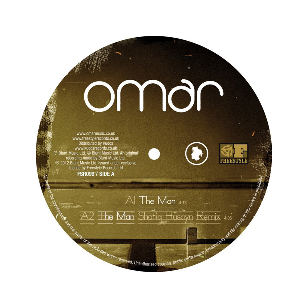 "<!--020130528001861-->Omar - 'The Man/ The Man (Remixes)/ There's Nothing Like This' [(Black) 12"" Vinyl Single]"