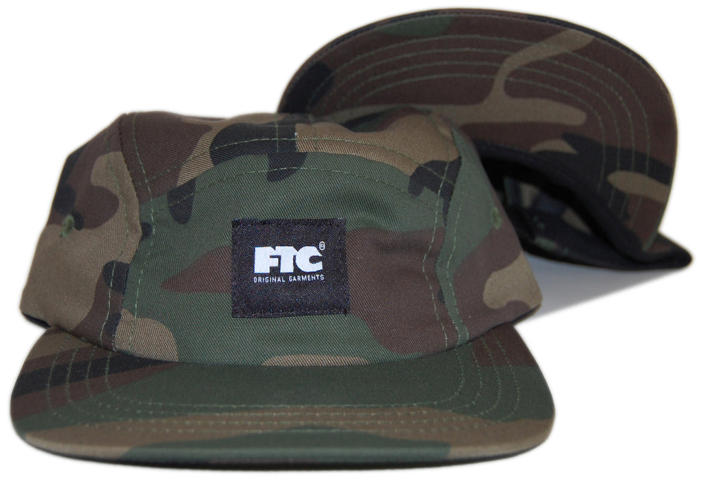 <!--020121030051007-->FTC - 'Logo' [(Camo Pattern) Five Panel Camper Hat]