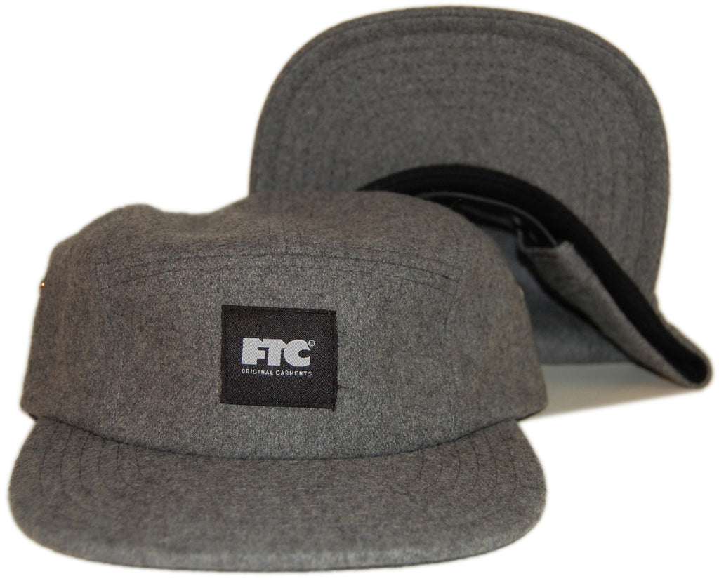 <!--020130924060010-->FTC - 'Original Garments - Wool' [(Dark Gray) Five Panel Camper Hat]