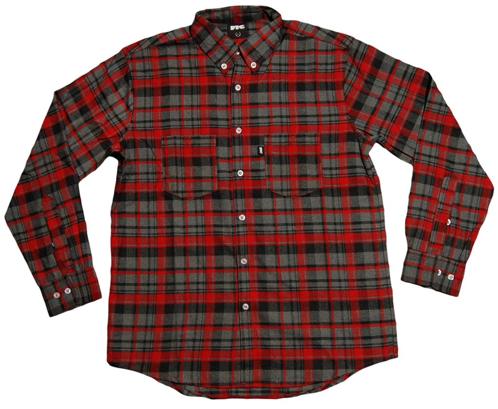 <!--2012120432-->FTC - 'Busey Flannel' [(Red) Button Down Shirt]