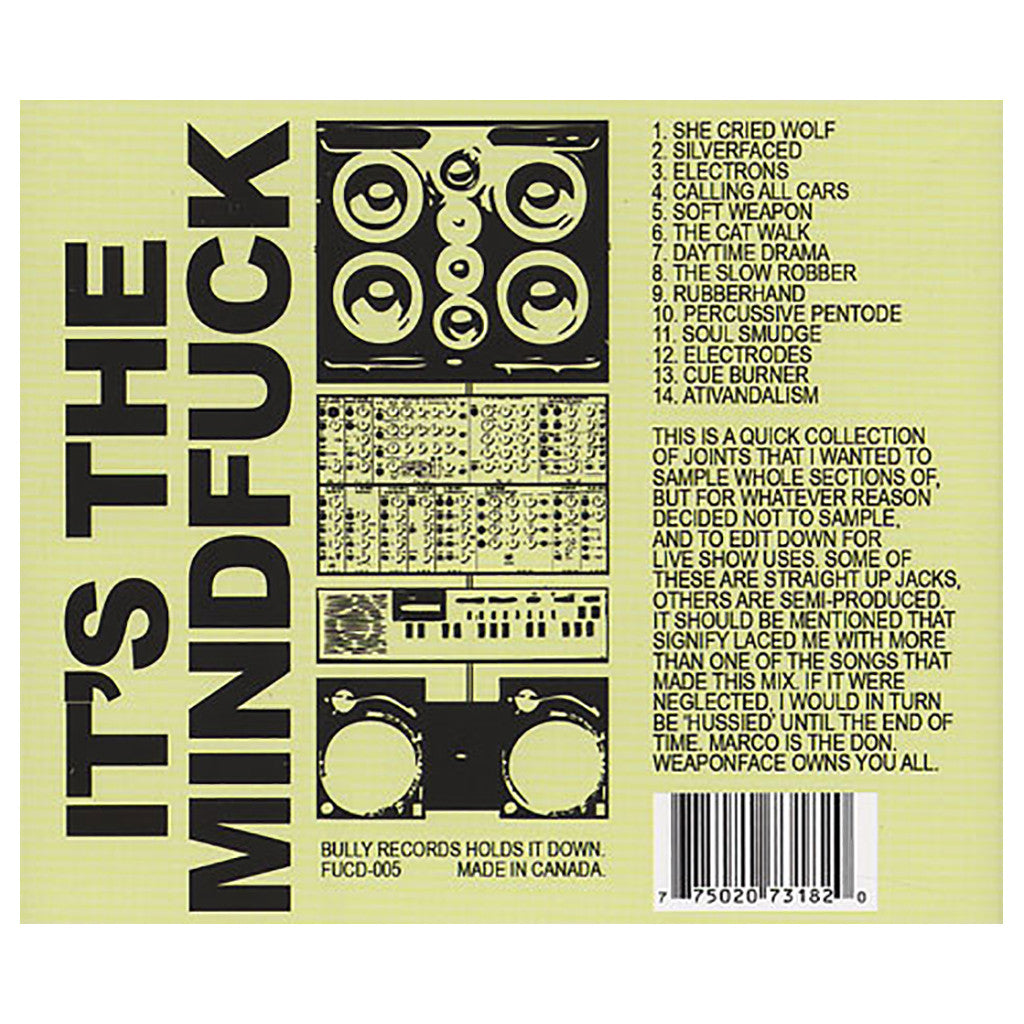 Sixtoo - 'It's The Mindfuck' [CD]
