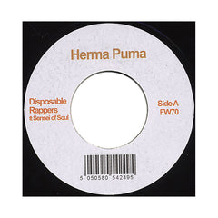 "<!--020100810022739-->Herma Puma - 'Disposable Rappers/ Psyche Out' [(Black) 7"" Vinyl Single]"