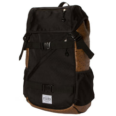 <!--020140826065464-->FLuD Watches - 'Tech Bag - Ostrich Brown' [(Black) Backpack]
