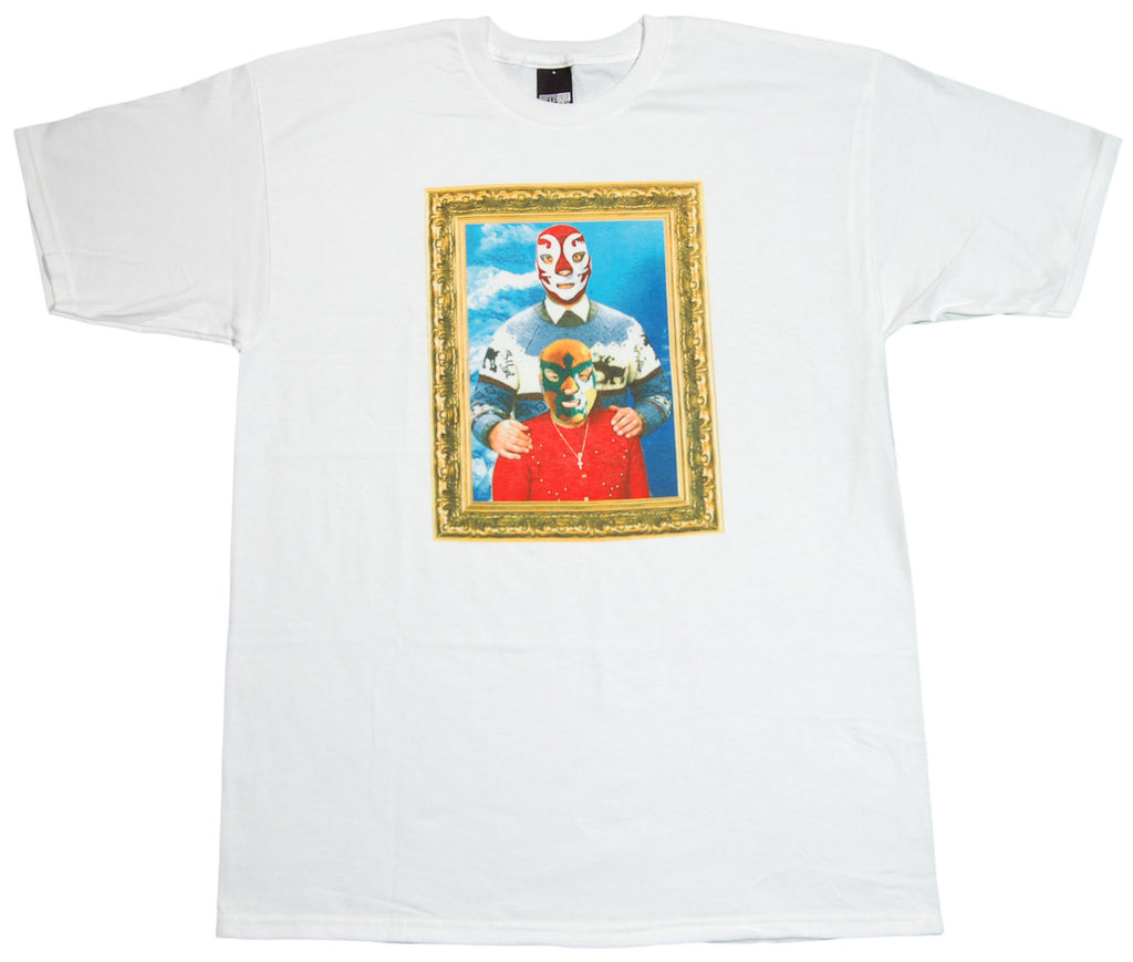 <!--2012051519-->Fifty 24SF - 'Luchador Familia' [(White) T-Shirt]