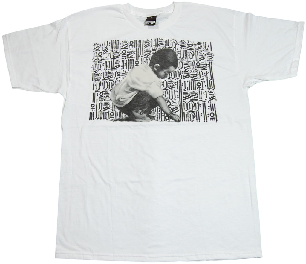 <!--2011071236-->Fifty 24SF - 'Young Scribe' [(White) T-Shirt]
