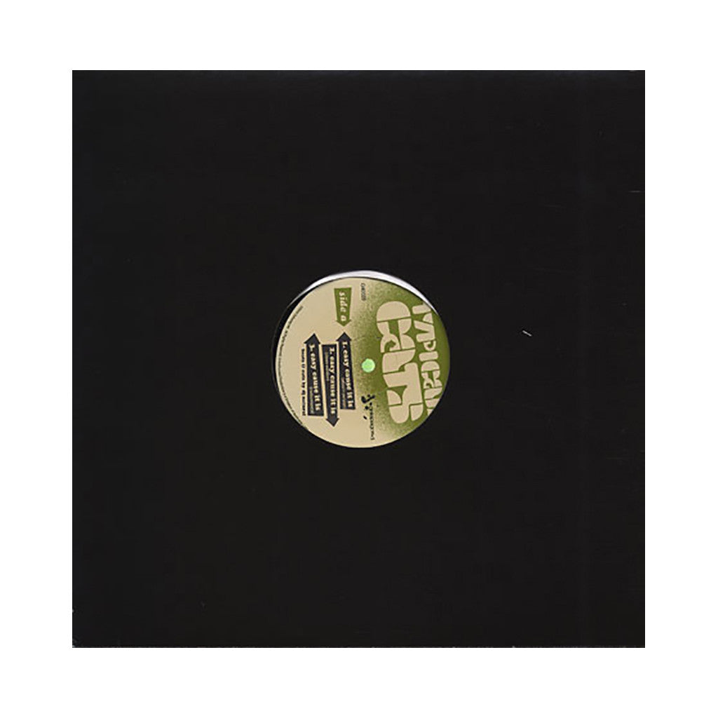 "Typical Cats - 'Easy Cause It Is/ Justice Coming/ Butterfly Knives' [(Black) 12"" Vinyl Single]"