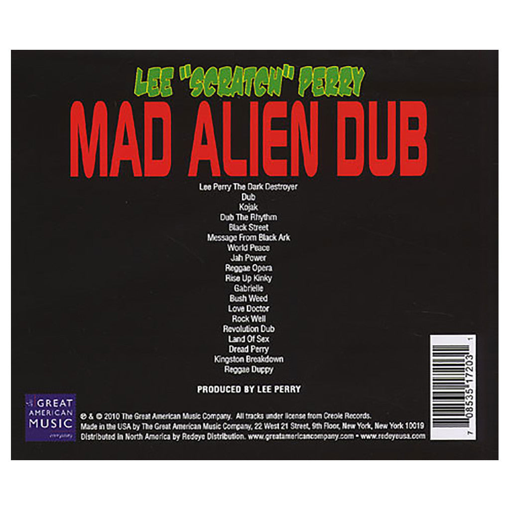 <!--020100309020124-->Lee Scratch Perry - 'Mad Alien Dub' [CD]