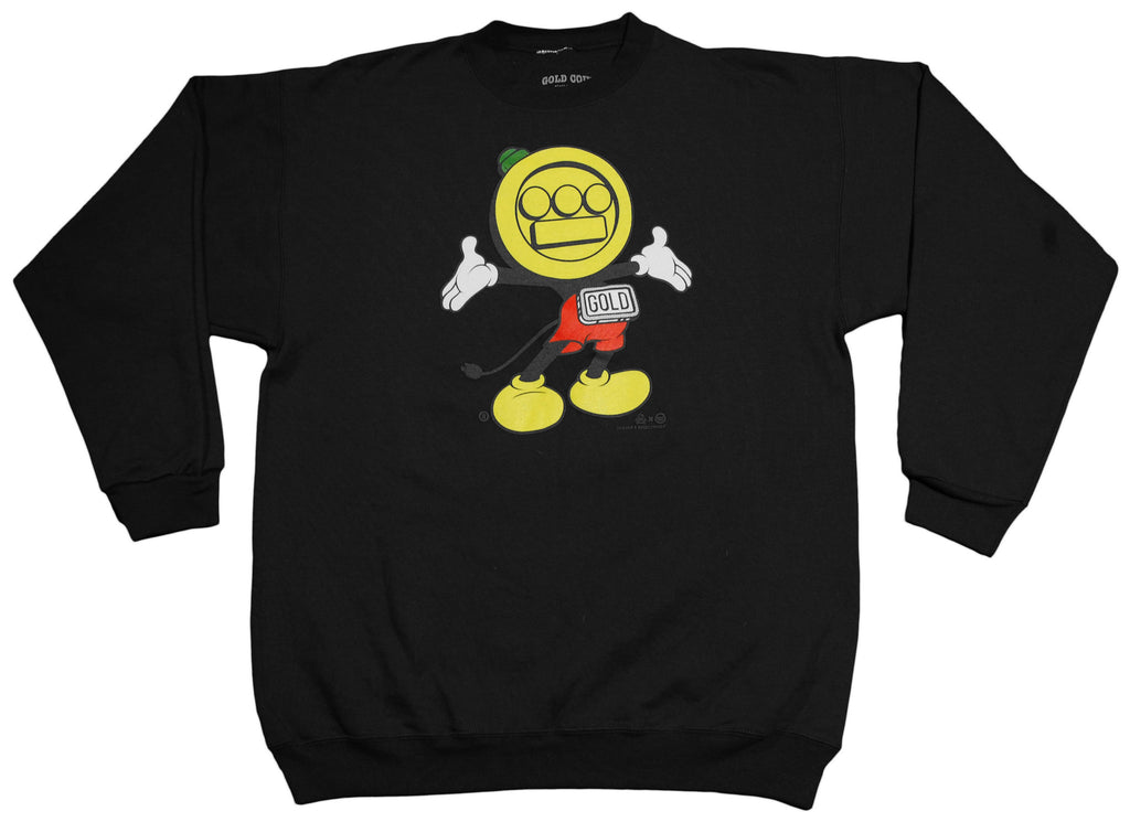 <!--2013031217-->Gold Coin x Hieroglyphics: The Hieroman Collection - 'Hieromickey' [(Black) Crewneck Sweatshirt]