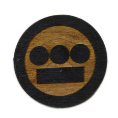 <!--2013031211-->Gold Coin x Hieroglyphics: The Hieroman Collection - 'Hiero Wood Pin' [(Black) Pin]