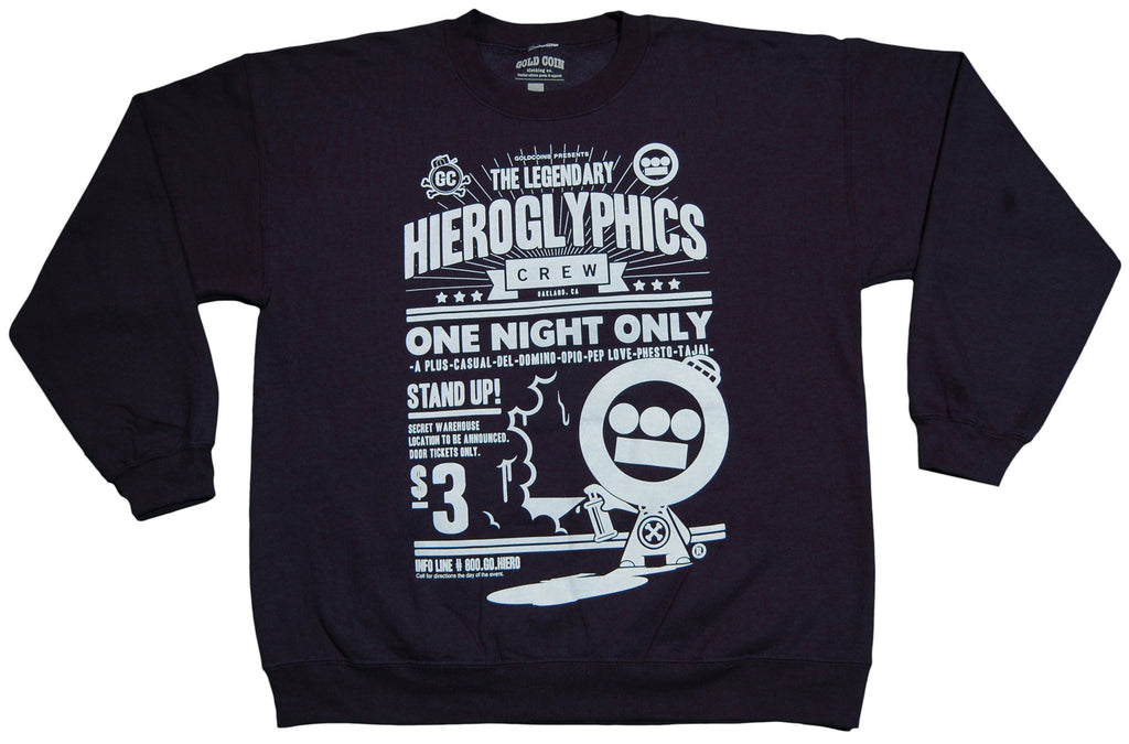 <!--2013031210-->Gold Coin x Hieroglyphics: The Hieroman Collection - 'One Night Only' [(Dark Blue) Crewneck Sweatshirt]