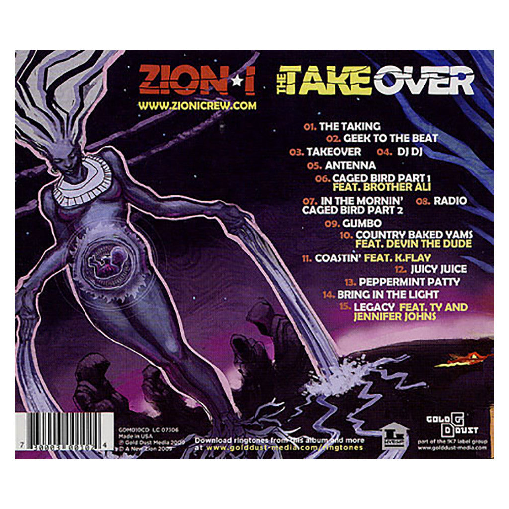 <!--120090217015566-->Zion I - 'The TakeOver' [CD]