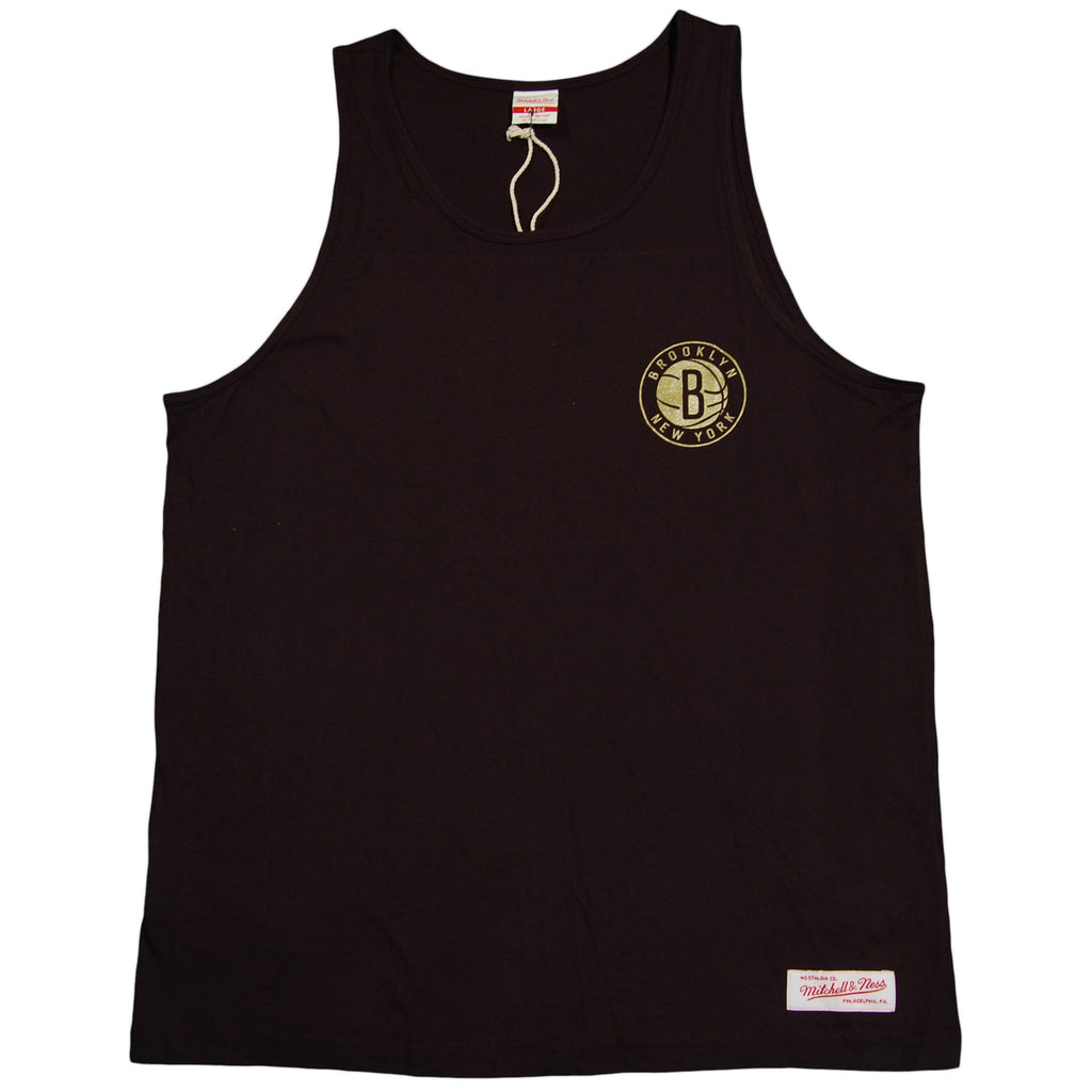 <!--2013061144-->Mitchell & Ness x NBA - 'Brooklyn Nets - Black & Gold Tank' [(Black) Tank Top]