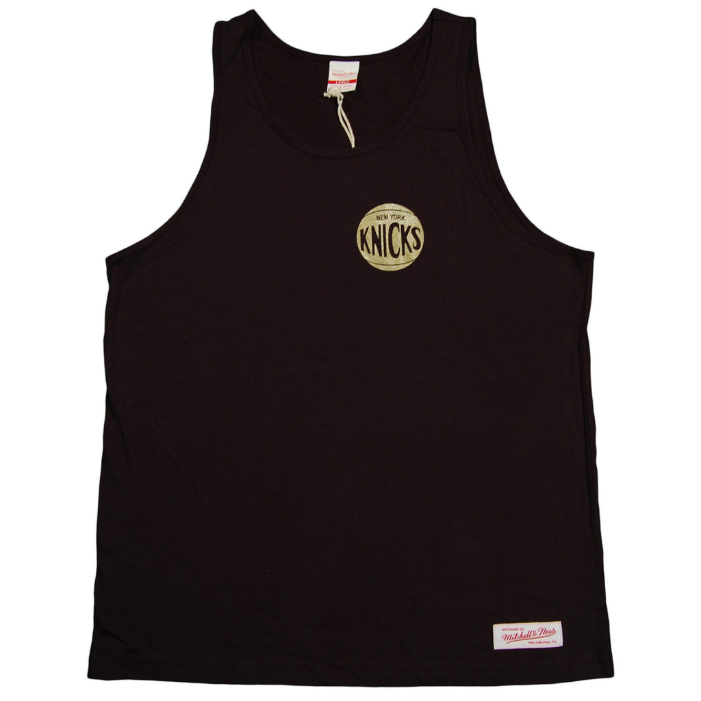 Mitchell & Ness x NBA - 'New York Knicks - Black & Gold Tank' [(Black) Tank Top]