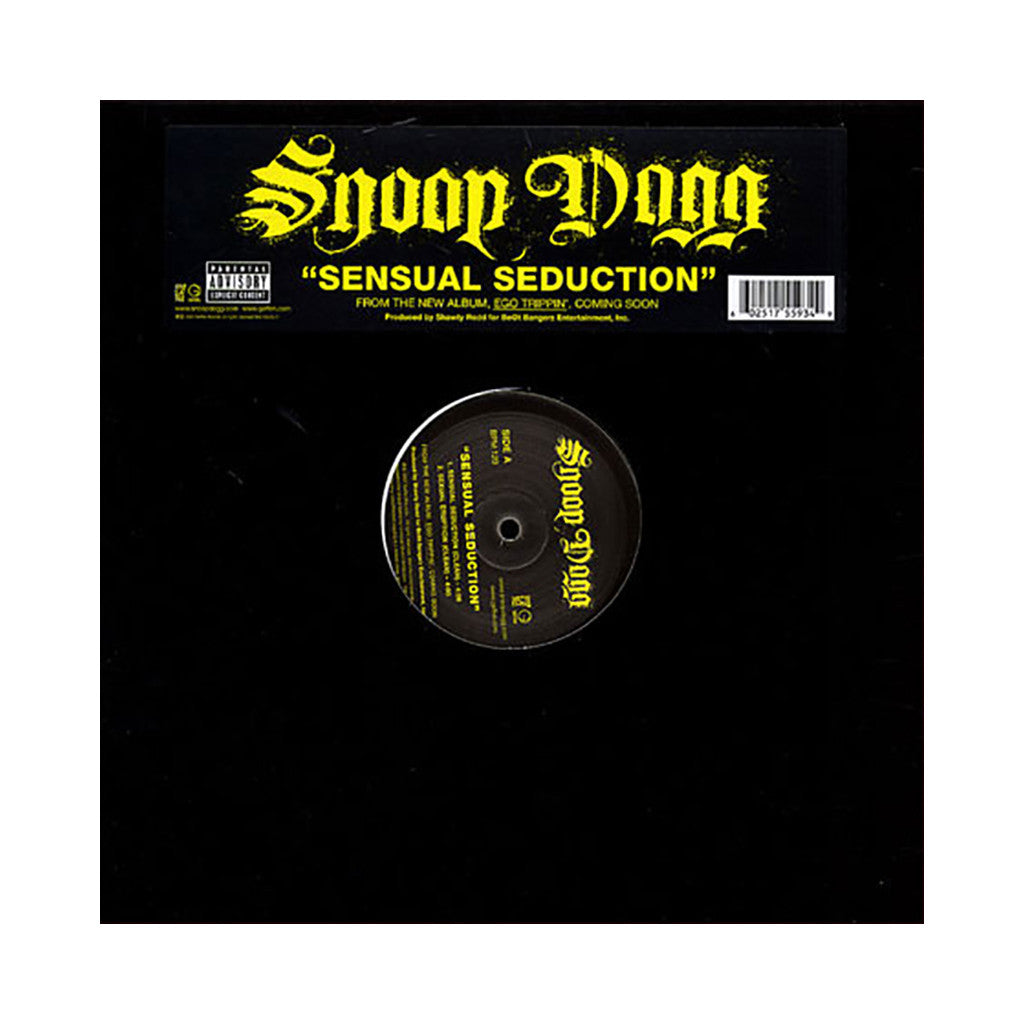 "Snoop Dogg - 'Sensual Seduction/ Sexual Eruption' [(Black) 12"" Vinyl Single]"