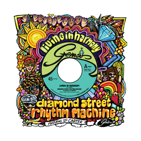 "[""Diamond Street Rhythm Machine - 'Living in Harmony' [(Black) 7\"" Vinyl Single]""]"