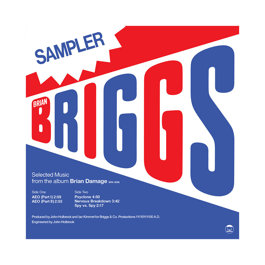 "Brian Briggs - 'Selected Music From The Album Brian Damage' [(Black) 12"" Vinyl Single]"