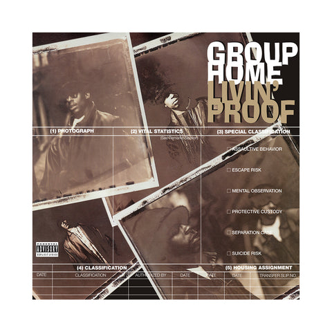 "[""Group Home - 'Livin' Proof (Re-Issue)' [(Black) Vinyl [2LP]]""]"