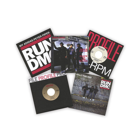 "[""Run D.M.C. - 'The Singles Collection' [(Black) 7\"" Vinyl Single [5x7\""]]""]"