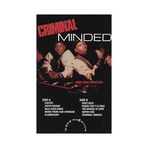"[""Boogie Down Productions - 'Criminal Minded' [(Black) Cassette Tape]""]"