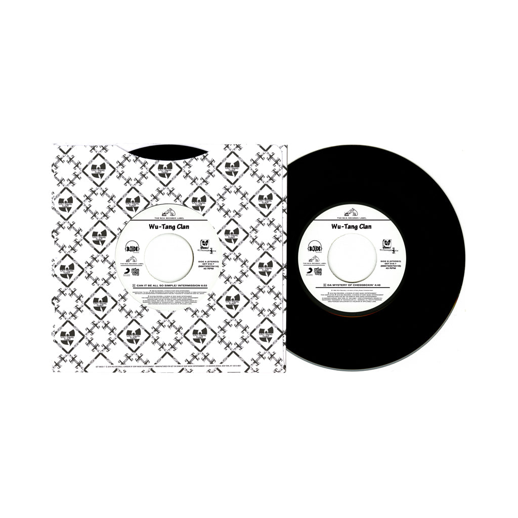 "Wu-Tang Clan - 'Can It Be All So Simple/ Da Mystery Of Chessboxin'' [(Black) 7"" Vinyl Single]"