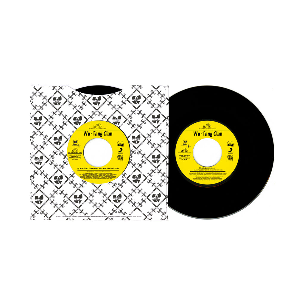 "Wu-Tang Clan - 'Wu-Tang Clan Ain't Nuthing Ta F' Wit/ C.R.E.A.M.' [(Black) 7"" Vinyl Single]"