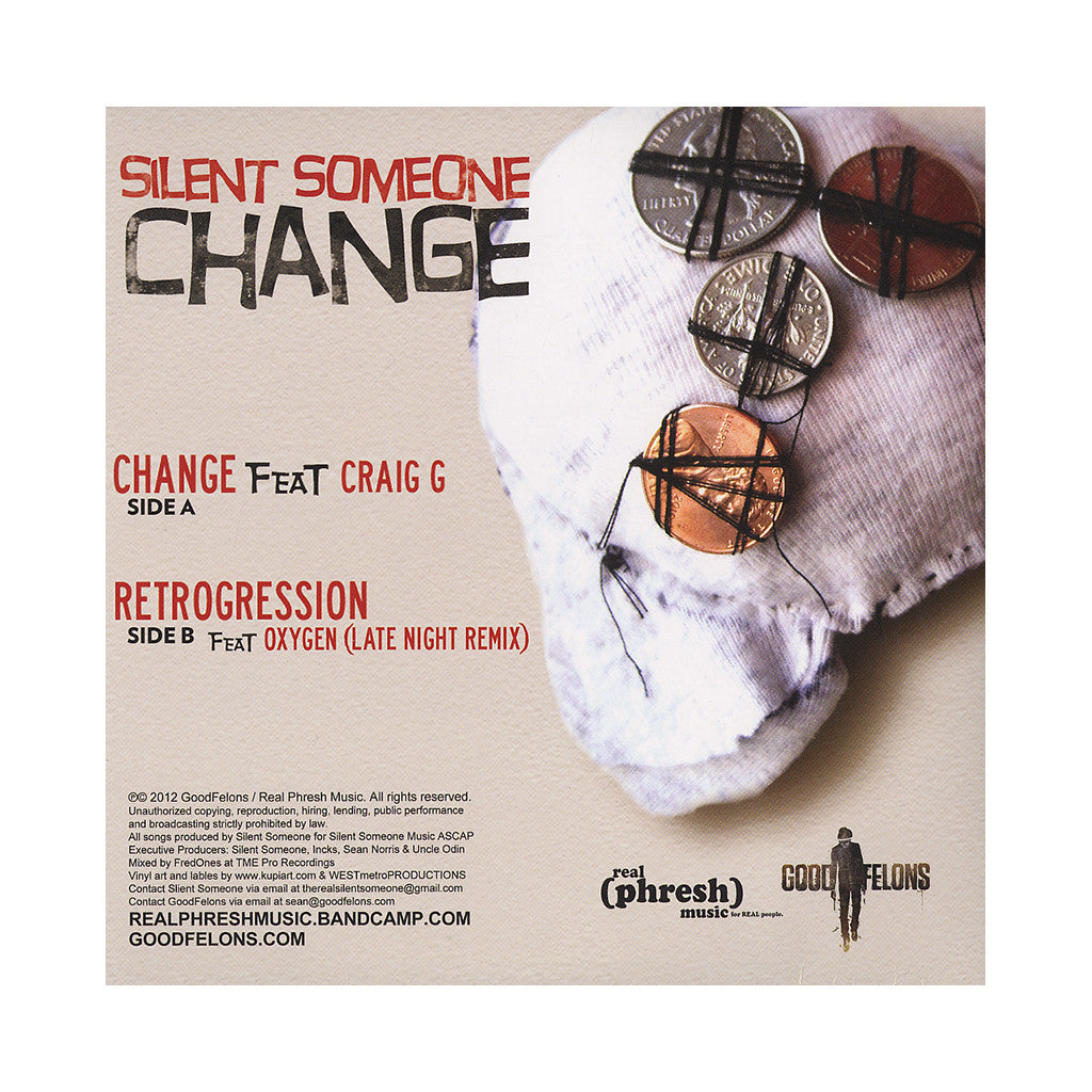 "<!--020120313044524-->Silent Someone - 'Change/ Retrogression' [(Black) 7"" Vinyl Single]"