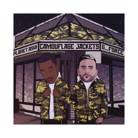 "[""Planet Asia & G_Force - 'Camouflage Jackets' [(Black) Vinyl LP]""]"