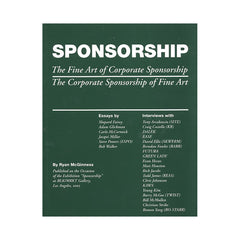 <!--020080708014265-->Ryan McGinness - 'Sponsorship: The Fine Art of Corporate Sponsorship/ The Corporate Sponsorship of Fine Art' [Book]