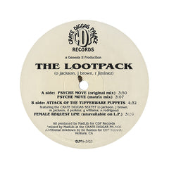 "<!--119960101011964-->Lootpack - 'Psyche Move/ Psyche Move (Remix)/ Attack Of The Tupperware Puppets/ Female Request Line' [(Black) 12"" Vinyl Single]"