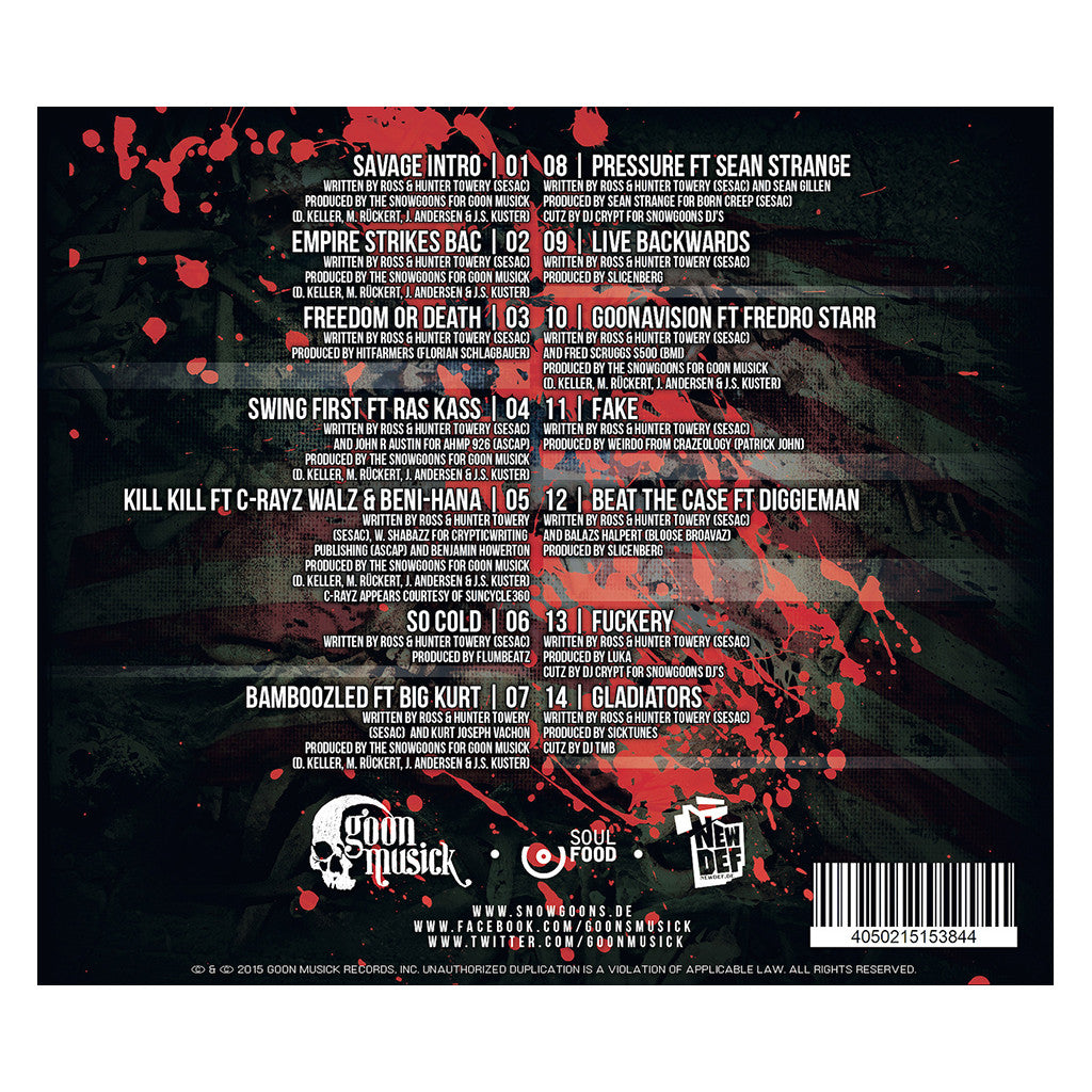 <!--120151225071231-->Savage Brothers - 'Freedom Or Death' [CD]