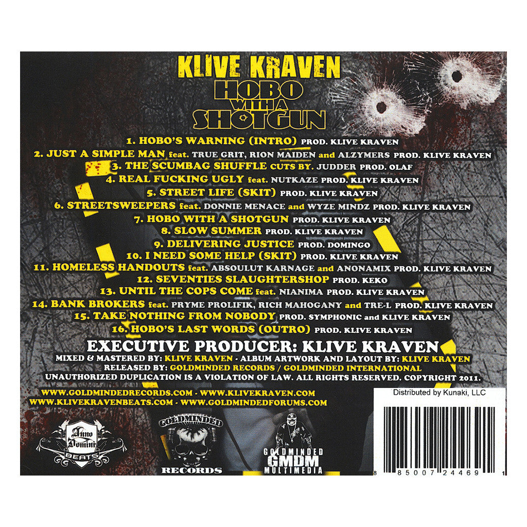 <!--020111001060626-->Klive Kraven - 'Hobo With A Shotgun' [CD]