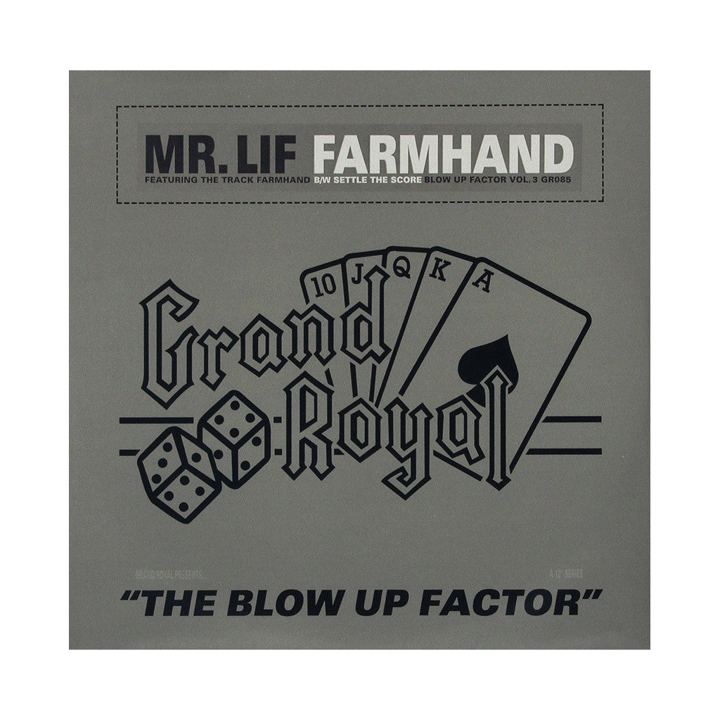 "<!--119991123002037-->Mr. Lif - 'Farmhand/ Settle The Score' [(Black) 12"""" Vinyl Single]"